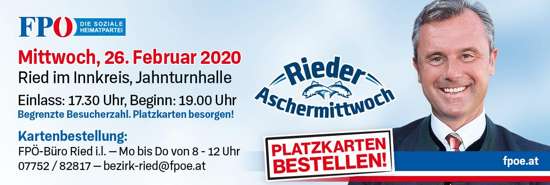 Rieder Aschermittwoch 2020