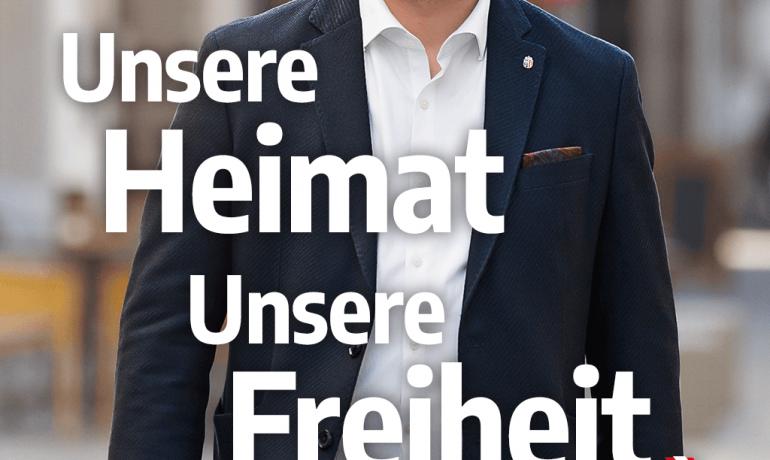 """""""Unsere Heimat. Unsere Freiheit."""" – Hochformat"""
