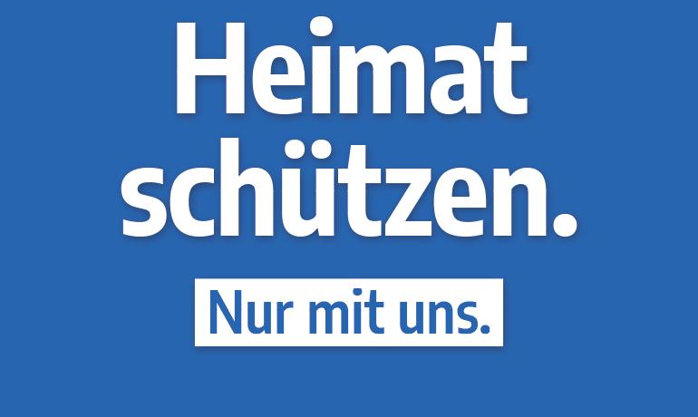 """""""Heimat schützen."""" – Hochformat"""