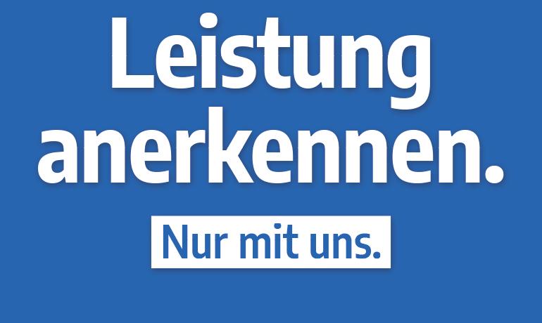"""""""Leistung anerkennen."""" – Hochformat"""