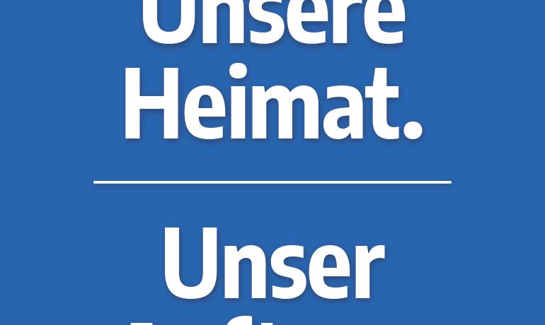 """""""Unsere Heimat. Unser Auftrag."""" – Hochformat"""
